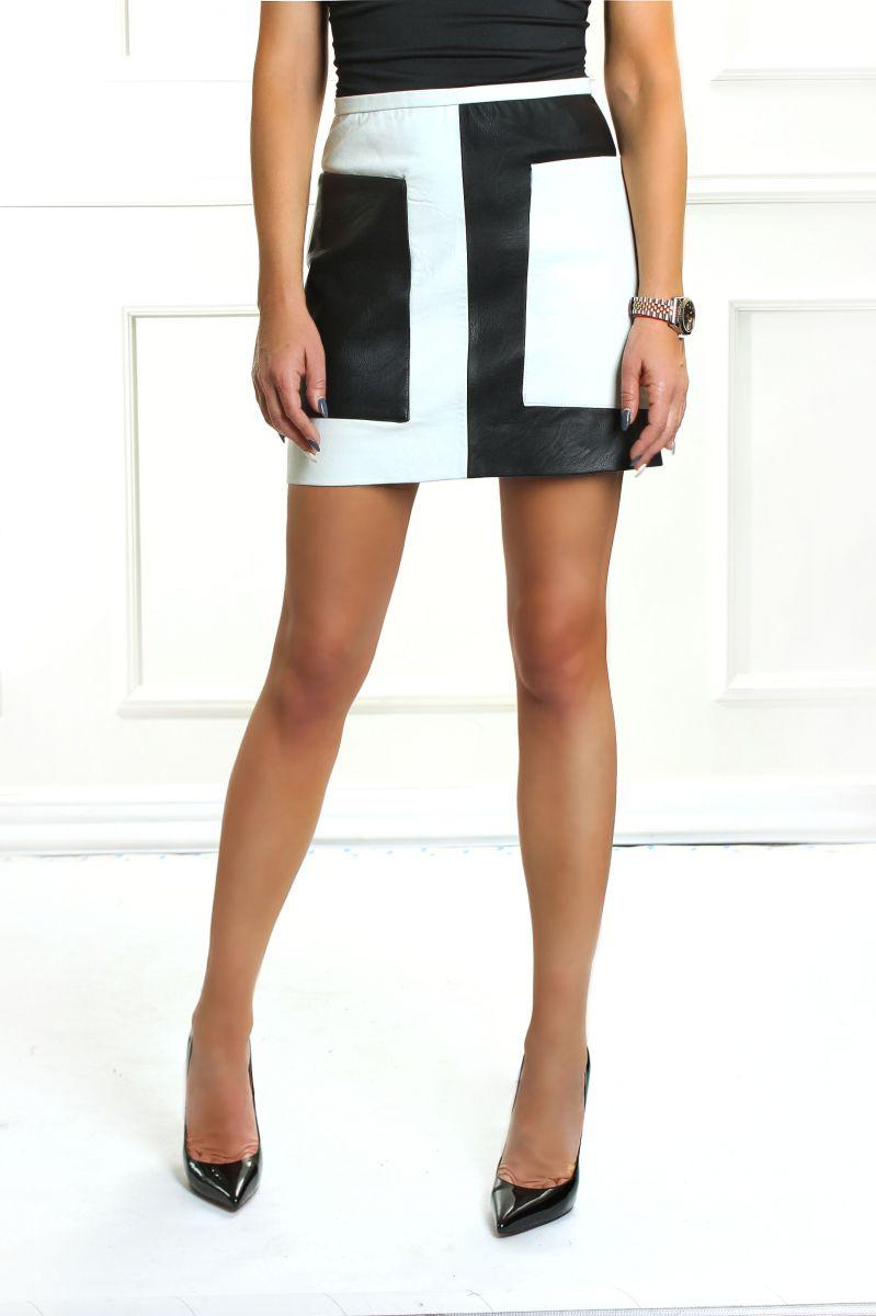 Пола Leather Black & White