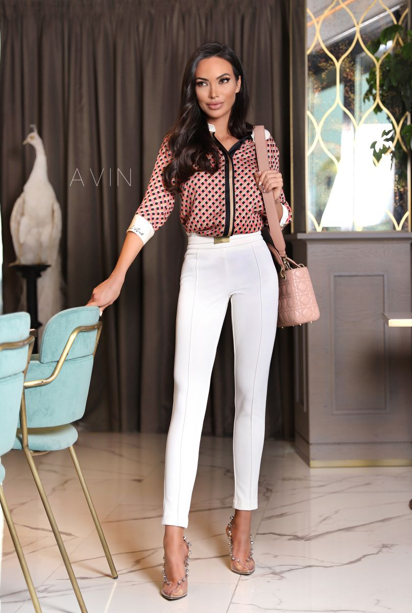 Панталон клин в бяло avin