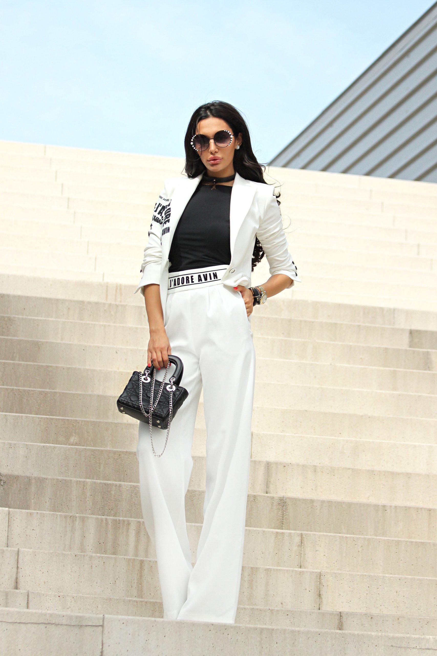 Панталон в бяло J'Adore