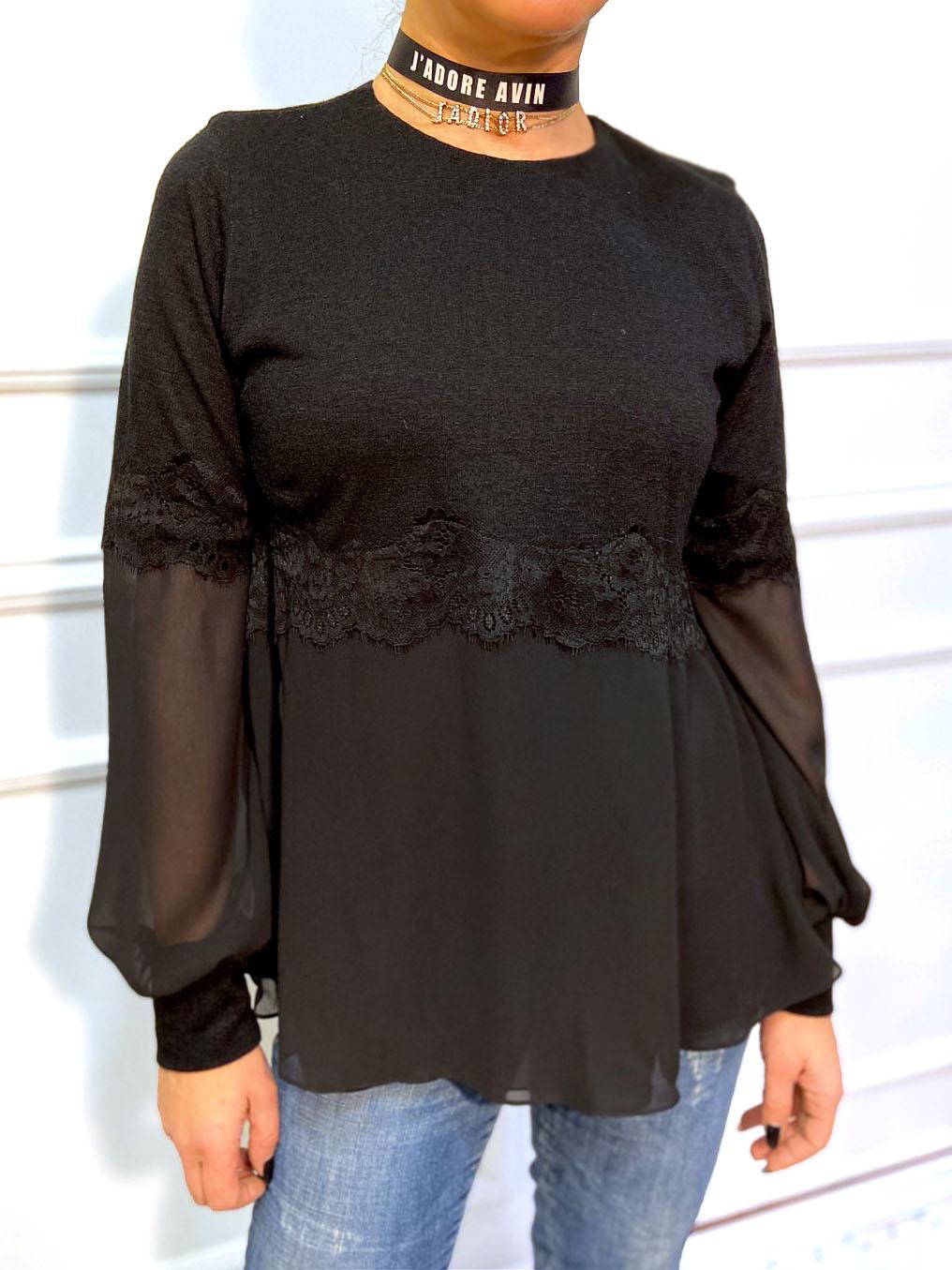 черен пуловер avin