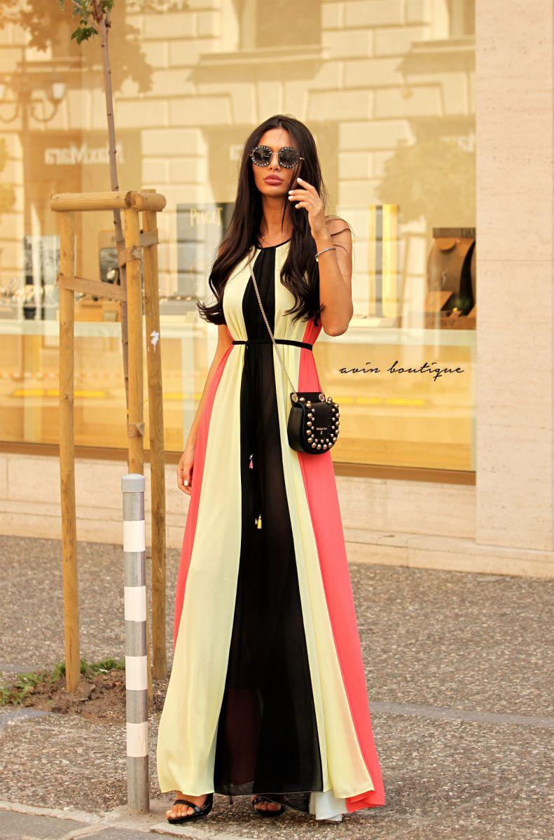 лятна дълга рокля avin paloma miteva