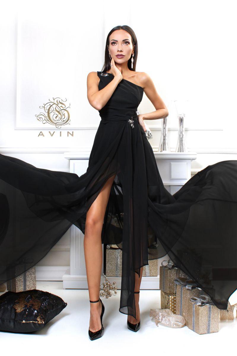 черна рокля avin