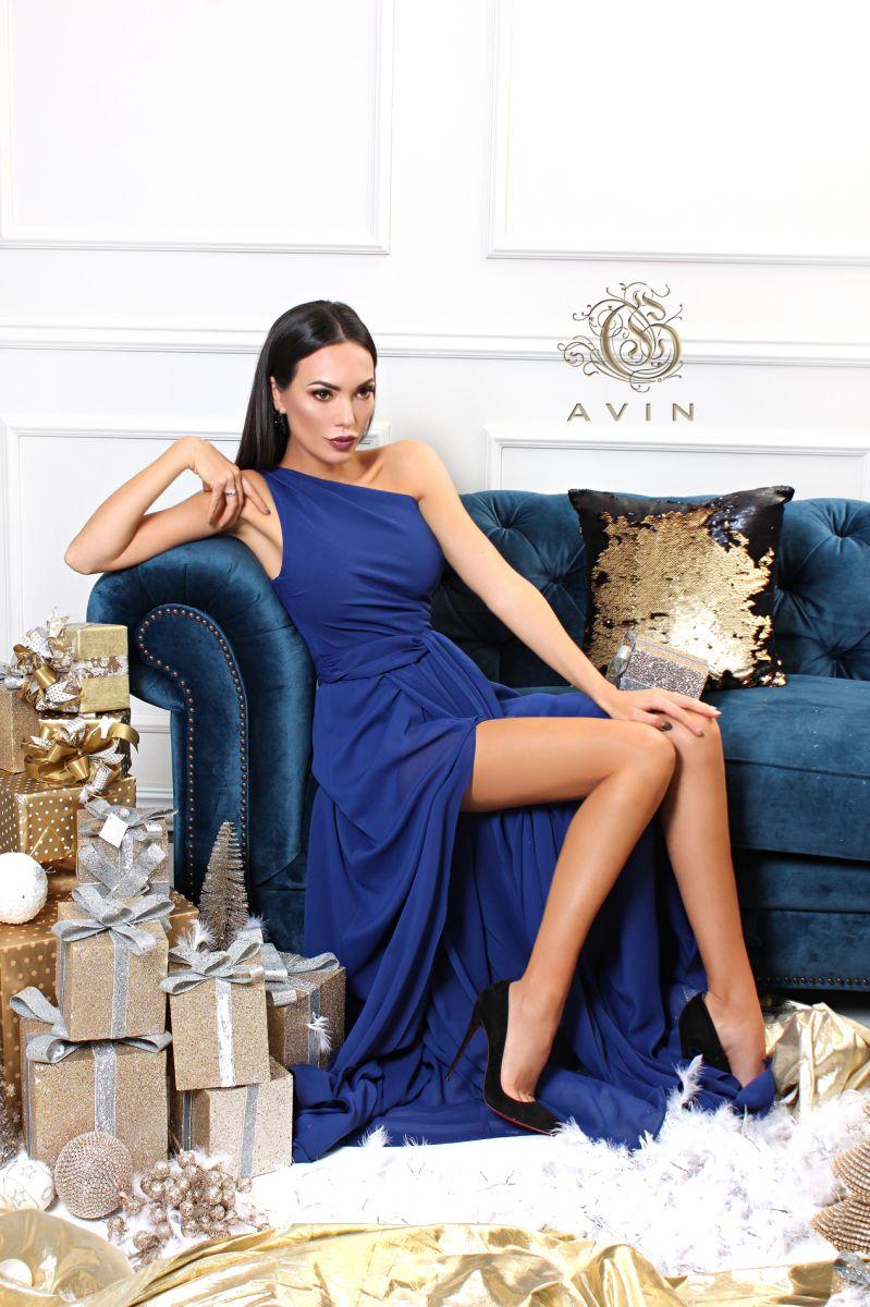 рокля в синьо avin