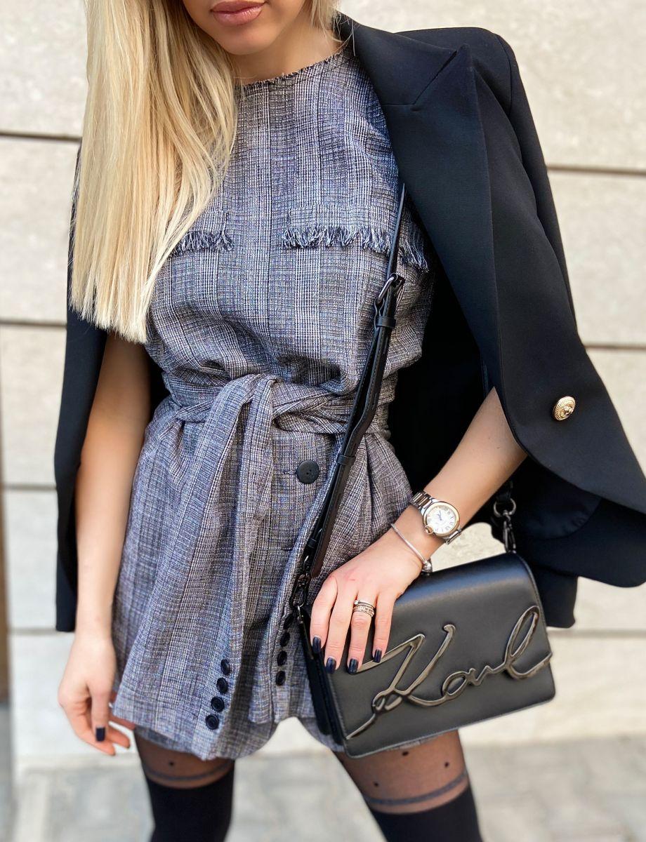 сива рокля avin