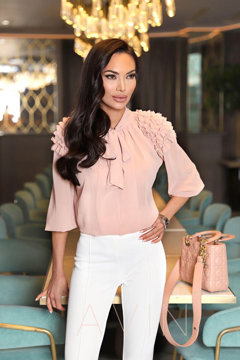 блуза в цвят пудра розово avin