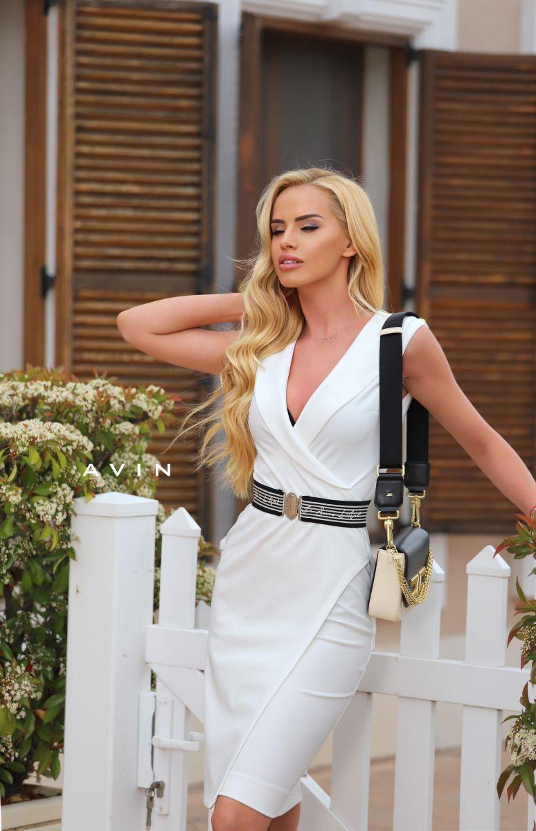 рокля бяла avin