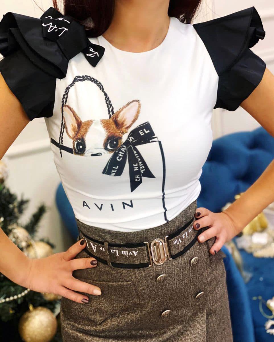 тениска с кученце чихуахуа