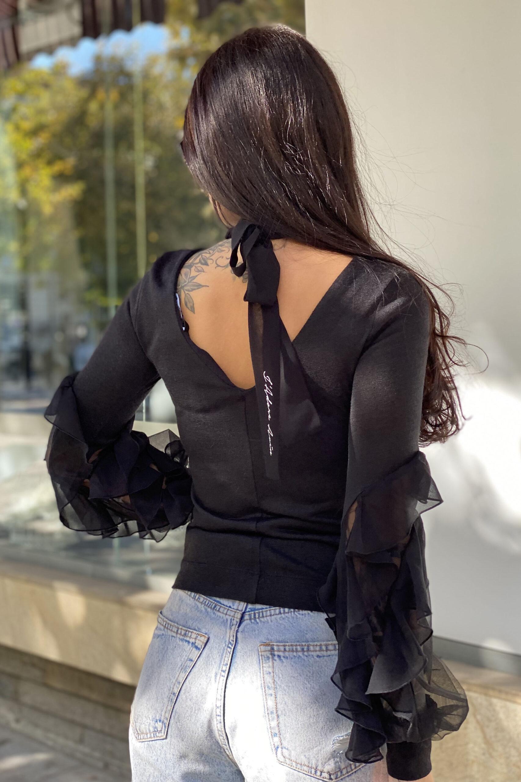 дамски пуловер в черно avin
