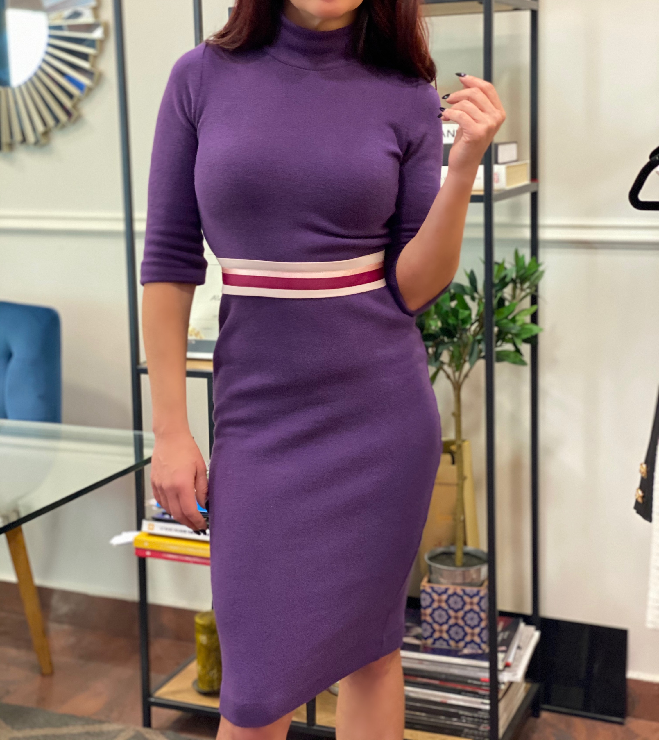 лилава ежедневна рокля avin