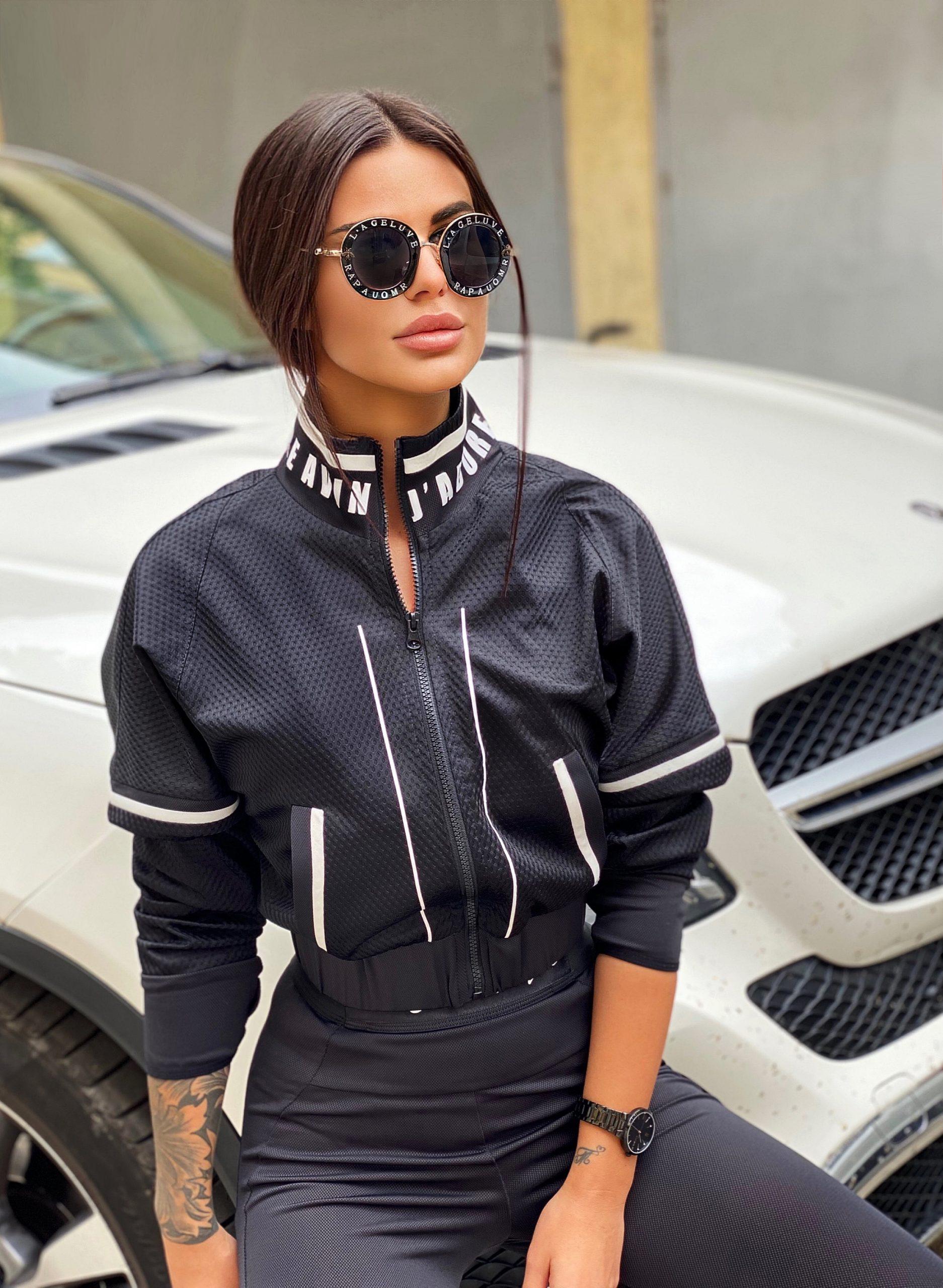 яке avin sport спортно елегантно черно дизайнерско яке avin